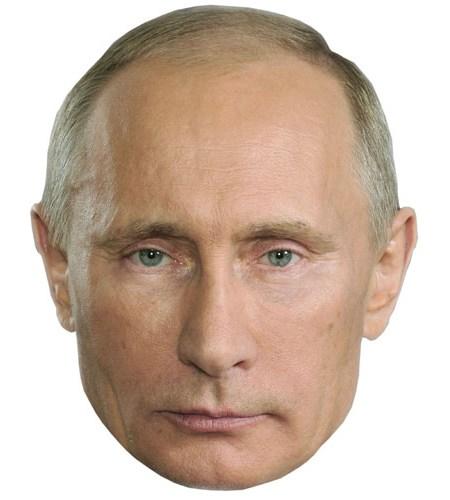 A Cardboard Celebrity Mask of Vladimir Putin