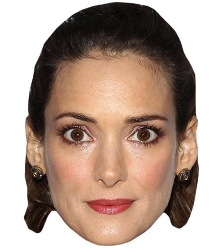 A Cardboard Celebrity Mask of Winona Ryder