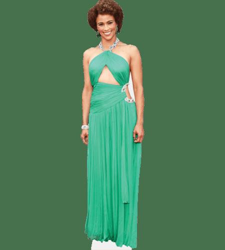 Paula Patton (Green Dress)