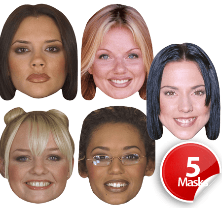 Spice Girls Mask Pack