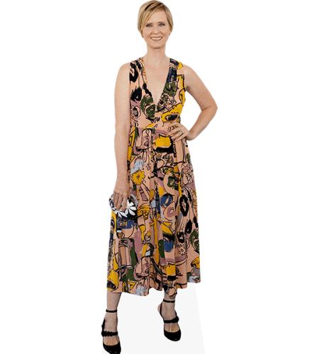 Cynthia Nixon (Patterned Dress)