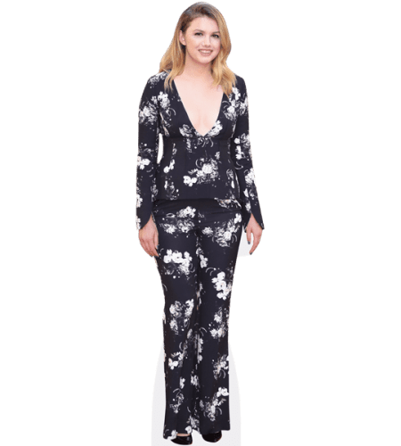 Hannah Murray (Floral suit)