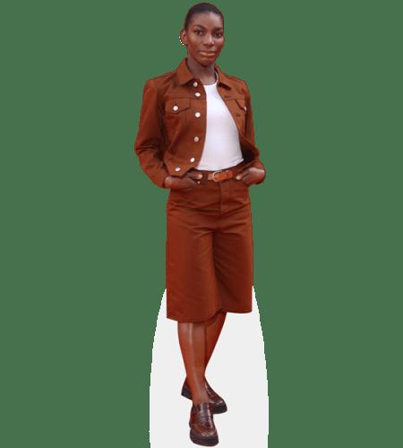 Michaela Coel (Brown Jacket)