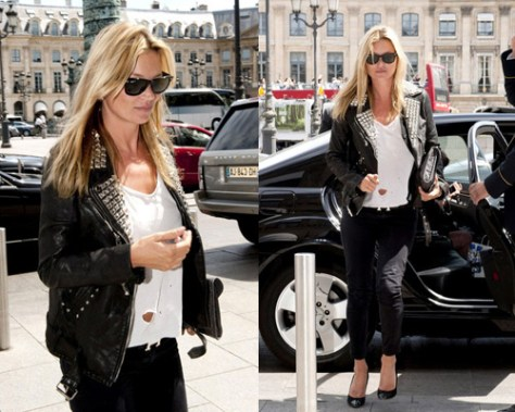 Kate Moss in LnA and Ray-Ban