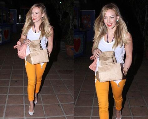Hilary Duff wearing Kiki de Montparnasse Garter Tank