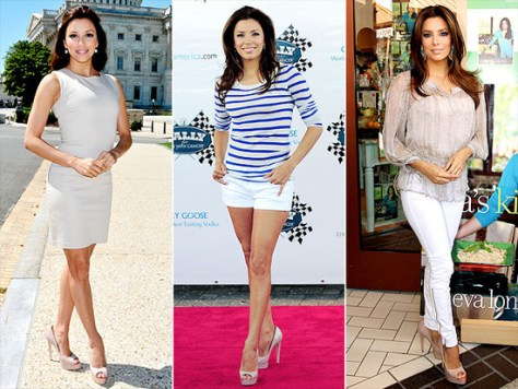 Eva Longoria Loves Brian Atwood Wagner Peep-Toes