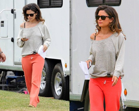 Rachel Bilson in Monrow Vintage Sweats