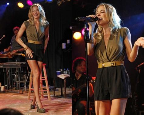LeAnn Rimes performing in Chicago wearing Donna Karan Bodysuit