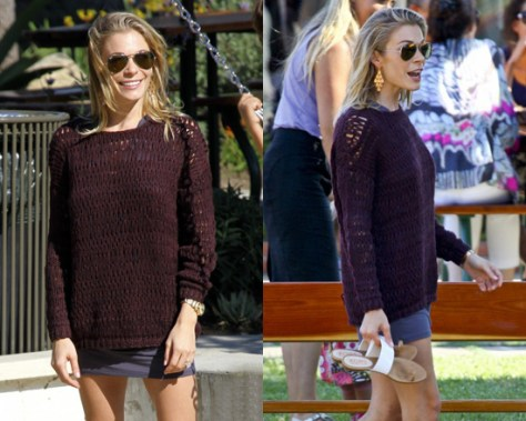 LeAnn Rimes in Vince Loose Knit Sweater