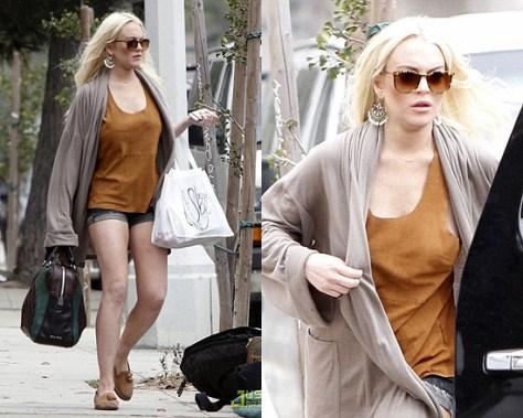 Lindsay Lohan Miu Miu Cutout Bowler Bag