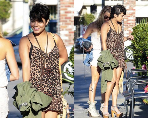 Vanessa Hudgens in show me your MUMU Wendy Topslip