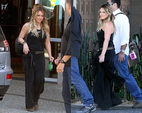 Hilary Duff promoting in Brazil wearing Kain dress