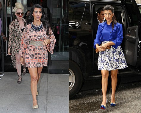 Kourtney Kardashian in Sunner Bedford Dress and English Garden Blouse