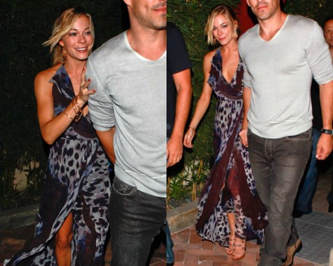 LeAnn Rimes in Robert Rodriguez Halter Chiffon Wrap Dress