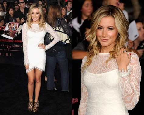 Ashley Tisdale wearing For Love & Lemons Scarlet Dress