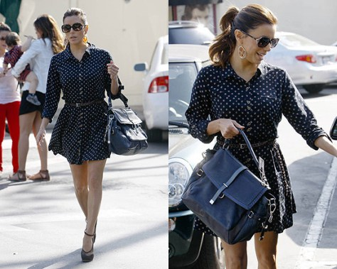 Eva Longoria looking cute in Heartloom Dawn Dress