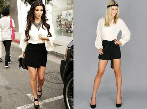 Kim Kardashian in Blaque Label Long Sleeve Romper