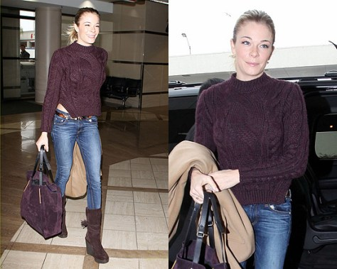 LeAnn Rimes gets matchy at LAX airport