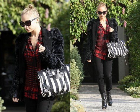 Nicole Richie wearing Winter Kate Tilapia Blouse