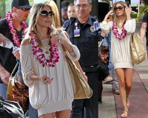 LeAnn Rimes arrives in Hawaii wearing Rachel Pally Leighton Dress