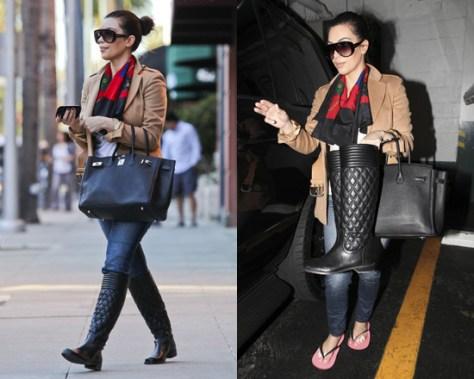 Kim Kardashian wears Stuart Weitzman Clute Boots
