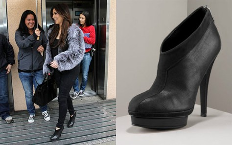 Kim Kardashian steps out in Yves Saint Laurent Y Platform Booties
