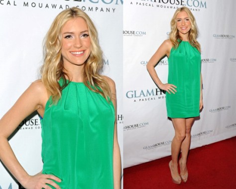 Kristin Cavallari in Jay Godfrey Hagen Halter-Neck Dress