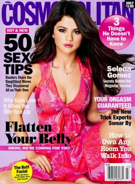 Selena Gomez graces Cosmo in Nanette Lepore Corsage Printed Dress