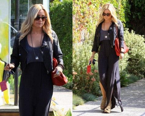 Ashley Tisdale in Free People Emma Too Fer Dress