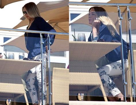 LeAnn Rimes wears J Brand Large Floral Print Skinny Jeans