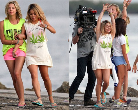 Vanessa Hudgens in UNIF Weed Be Good Together Tank