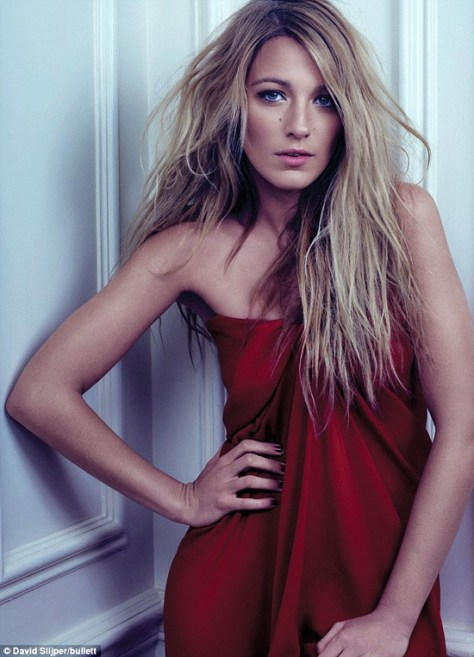 Blake Lively wearing Lanvin Strapless Silk Crepe Gown in Bullet Magazine