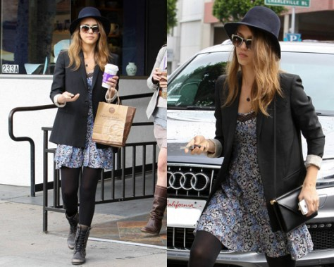 Jessica Alba in Heartloom Jaden Dress