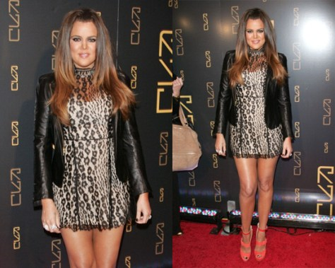 Khloe Kardashian in Lover Labyrinth Mini Dress
