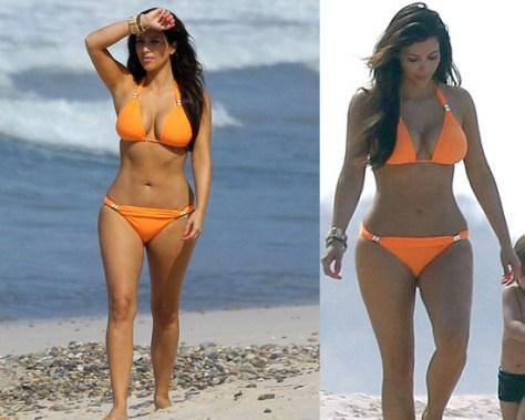 Kim Kardashian hits the beach in Mexico wearing Vix Swimwear Bia Logo Tube Bikini
