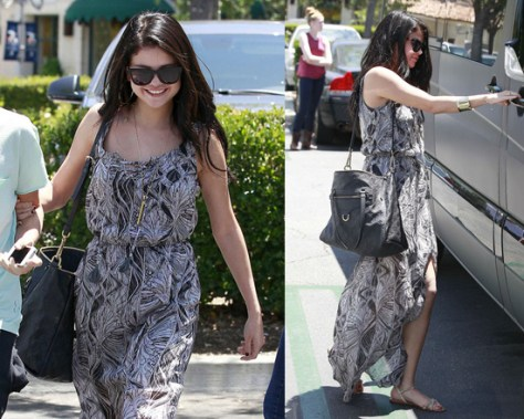 Selena Gomez in Ella Moss Stained Glass Maxi Dress