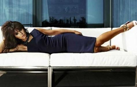 Cheryl Cole in Victoria Beckham Asymmetrical Top Dress