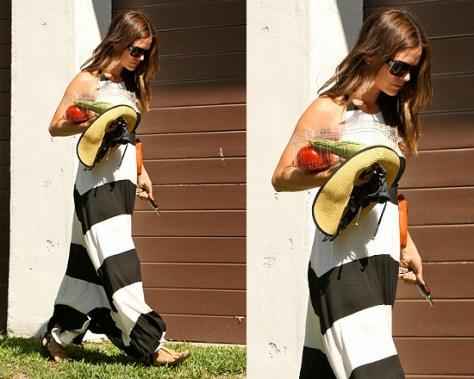 Rachel Bilson in A.L.C. Helena Stripe Dress