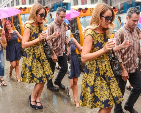 Lauren Conrad steps out in Alice + Olivia Reese Flare Dress