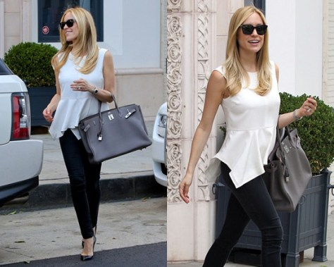 Kristin Cavallari in Elizabeth and James Yumi Peplum Top