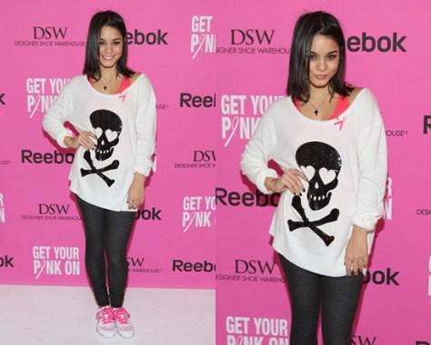 Vanessa Hudgens in Wildfox Sequin White Label Love Skull Sweater