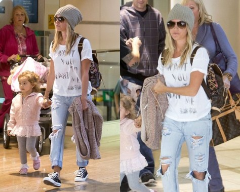 Ashley Tisdale wearing Chaser Want You Want Me Boxy Tee