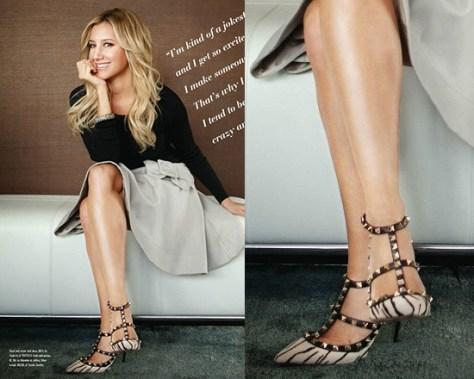 Ashley Tisdale wearing Valentino Garavani Studded Pumps
