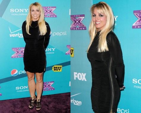 Britney Spears in AllSaints Barre Dress