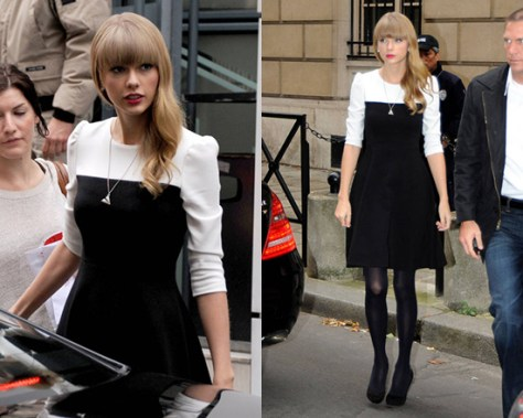 taylor-swift-Kate-Spade-New-York-olsen-Colorblock-Fit--Flare-Dress
