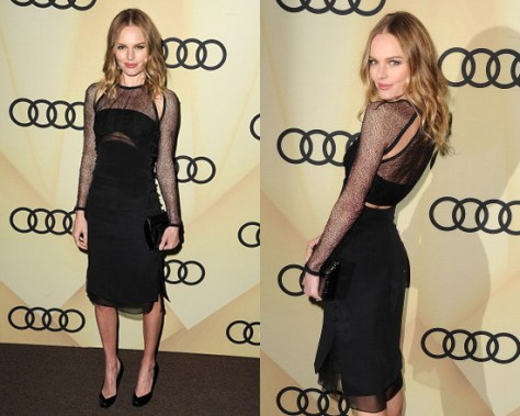Kate Bosworth in Emilio Pucci Silk Net & Silk Cady Dress