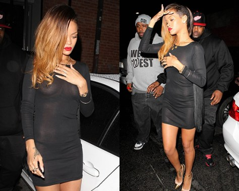 Rihanna wearing Stella McCartney Fringed Dress