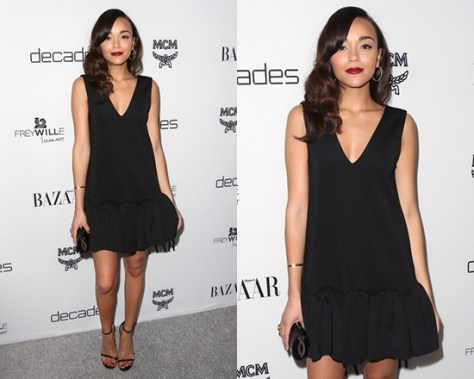 Ashley Madekwe wearing Three Floor Flare Neoprene Dress