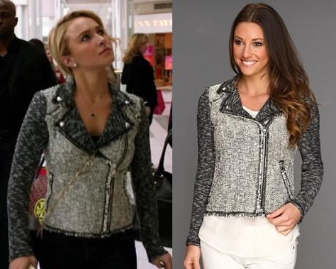Hayden Panettiere wears Rebecca Taylor Tweed Moto Jacket on Nashville