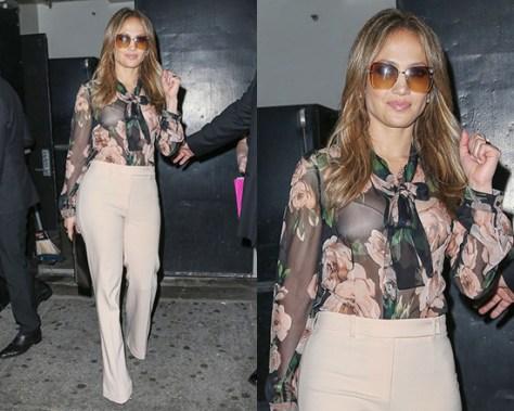 jennifer-lopez-Dolce-Gabbana-Floral-silk-blouse
